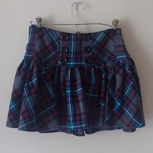 Candie's Colorful Plaid Skirt